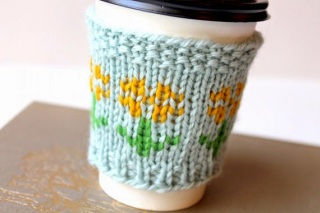 Sunflower Coffee Cozy