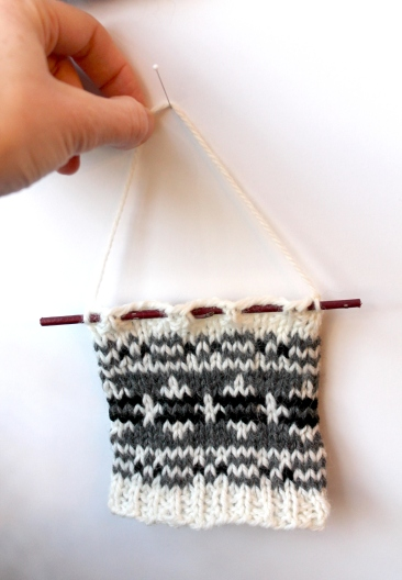 fair isle wall hanging