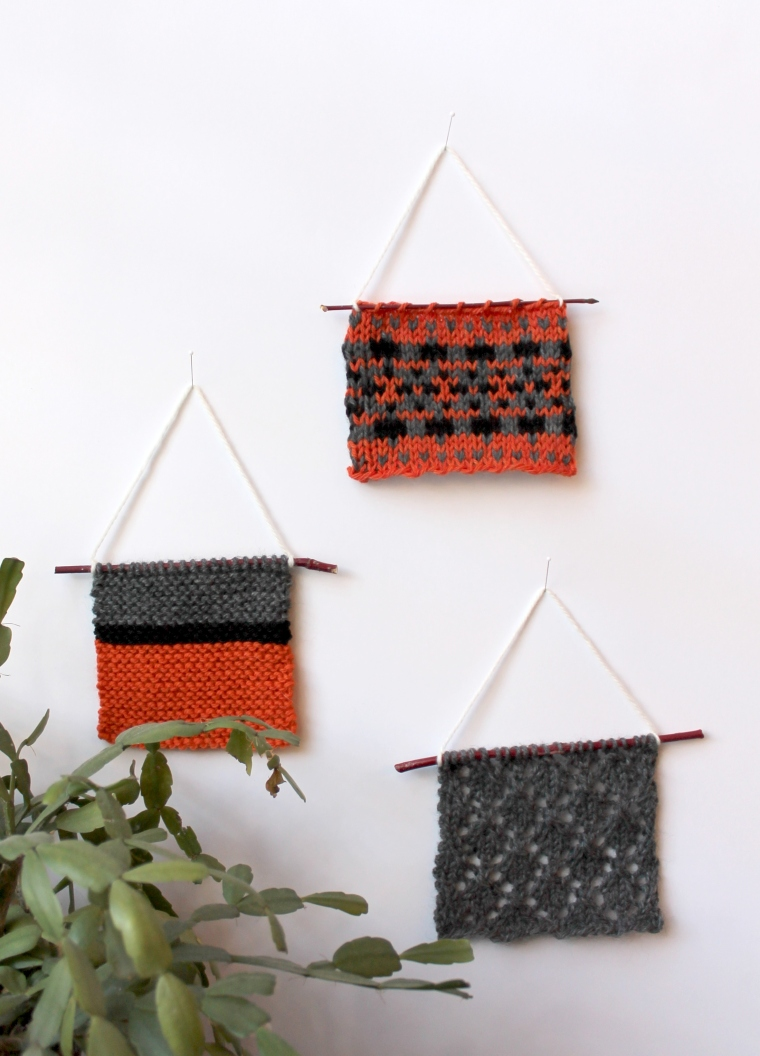 wall hanging orange tri