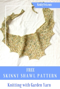 Spring Fling Garden Scarf: Combine an easy lace pattern with an edging of knit and purl rows in this one skein wonder. Use up that gorgeous hand dyed yarn in this speedy knit.